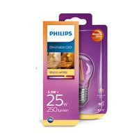 LED E27 kogel 25-3,5 Watt Philips warmglow filament DIM