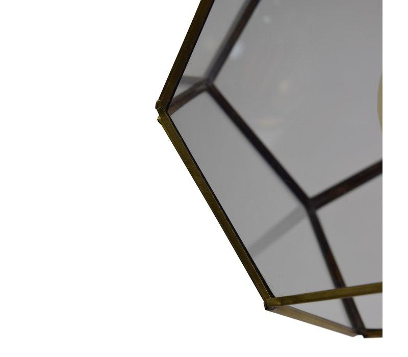 Hanglamp Geo1 Ø 20 cm Messing