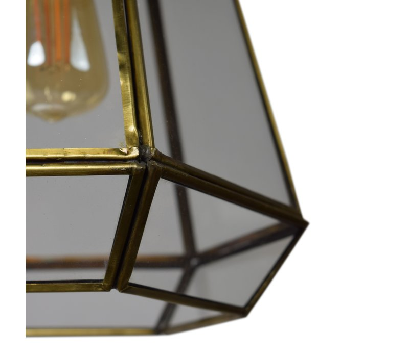 Hanglamp Geo2 Ø 20 cm Messing