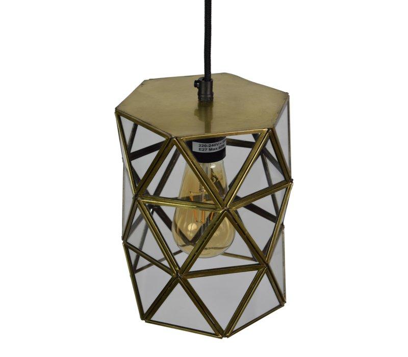 Hanglamp Geo3 Ø 15 cm Messing