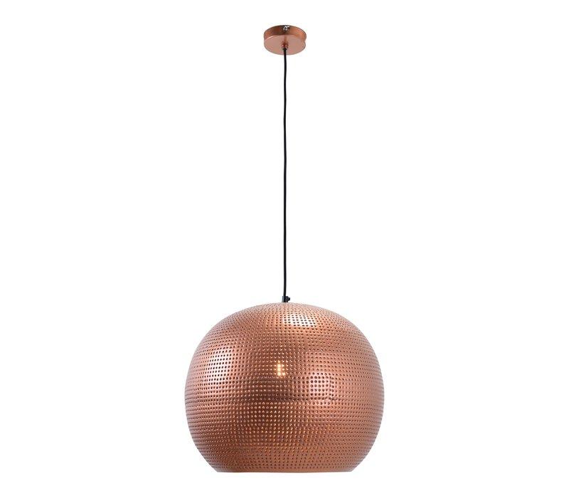 Hanglamp Spike bol XL Ø 40 cm Koper