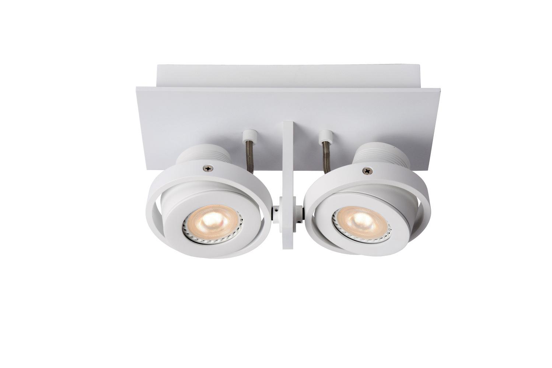Lucide LANDA Plafondspot-Wit-LED DTW-2xGU10-5W