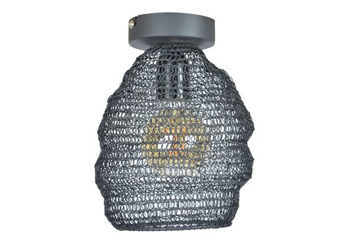 Urban Interiors Plafondlamp Mesh Ø 15 cm Zwart