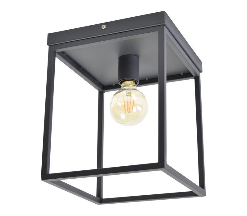 Plafondlamp Frame B 25 cm H 31 cm Zwart