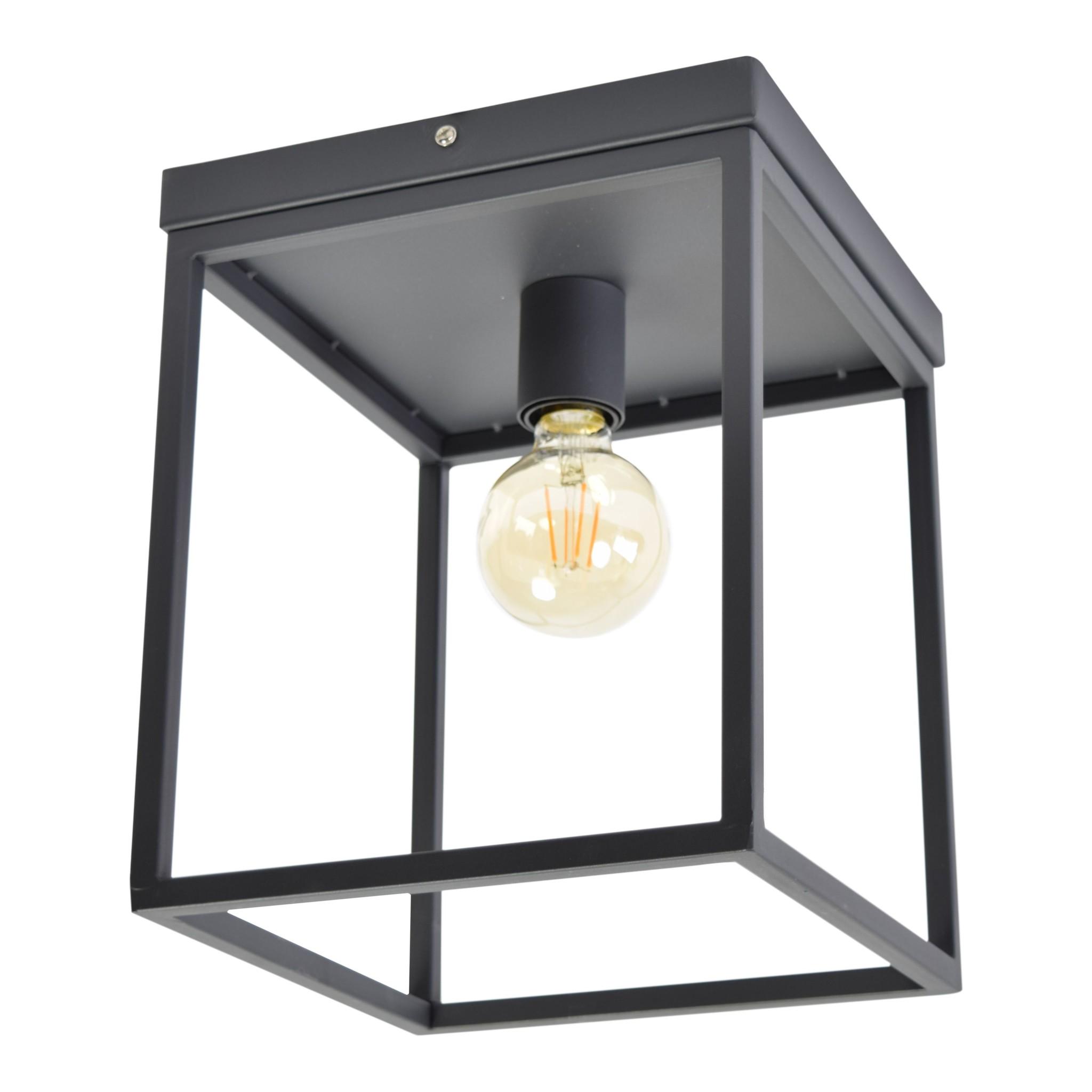Urban Interiors Plafondlamp Frame B 25 cm H 31 cm Zwart