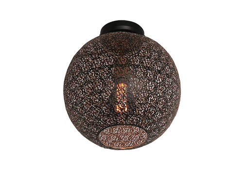 Freelight Plafondlamp Oronero Ø 30 cm zwart-goud - Copy