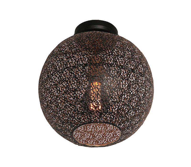 Plafondlamp Oronero Ø 30 cm zwart-goud