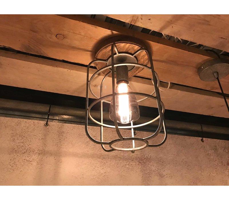 Plafondlamp Galera Ø 24 cm antiek zilver