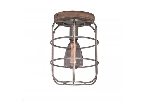 Freelight Plafondlamp Galera Ø 24 cm antiek zilver