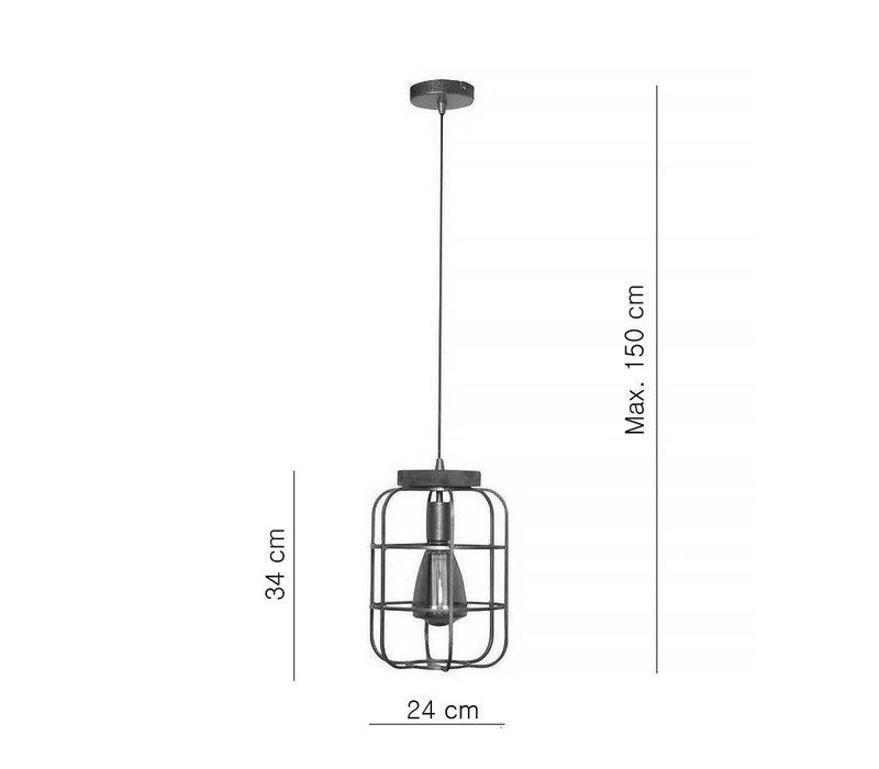 Hanglamp Galera Ø 24 cm antiek zilver