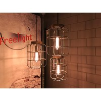Hanglamp Galera 3 lichts L 120 cm B 24 cm antiek zilver