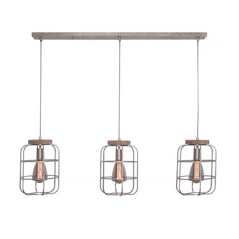 Freelight Hanglamp Galera 3 lichts L 120 cm B 24 cm antiek zilver