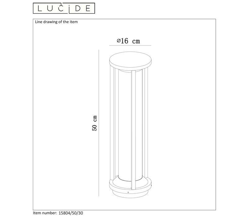 CADIX Sokkellamp Buiten 50cm E27/max 15W led Zwart