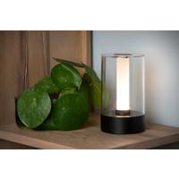 Lucide TRIBUN Tafellamp Led 3W Mat Zwart plexi