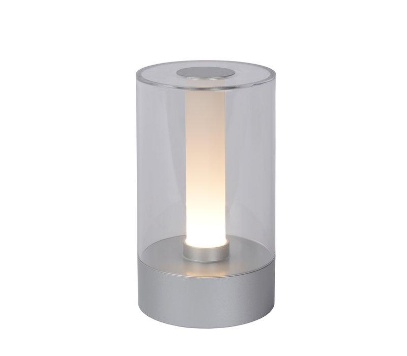 TRIBUN Tafellamp Led 3W Silvergrey / Plexi