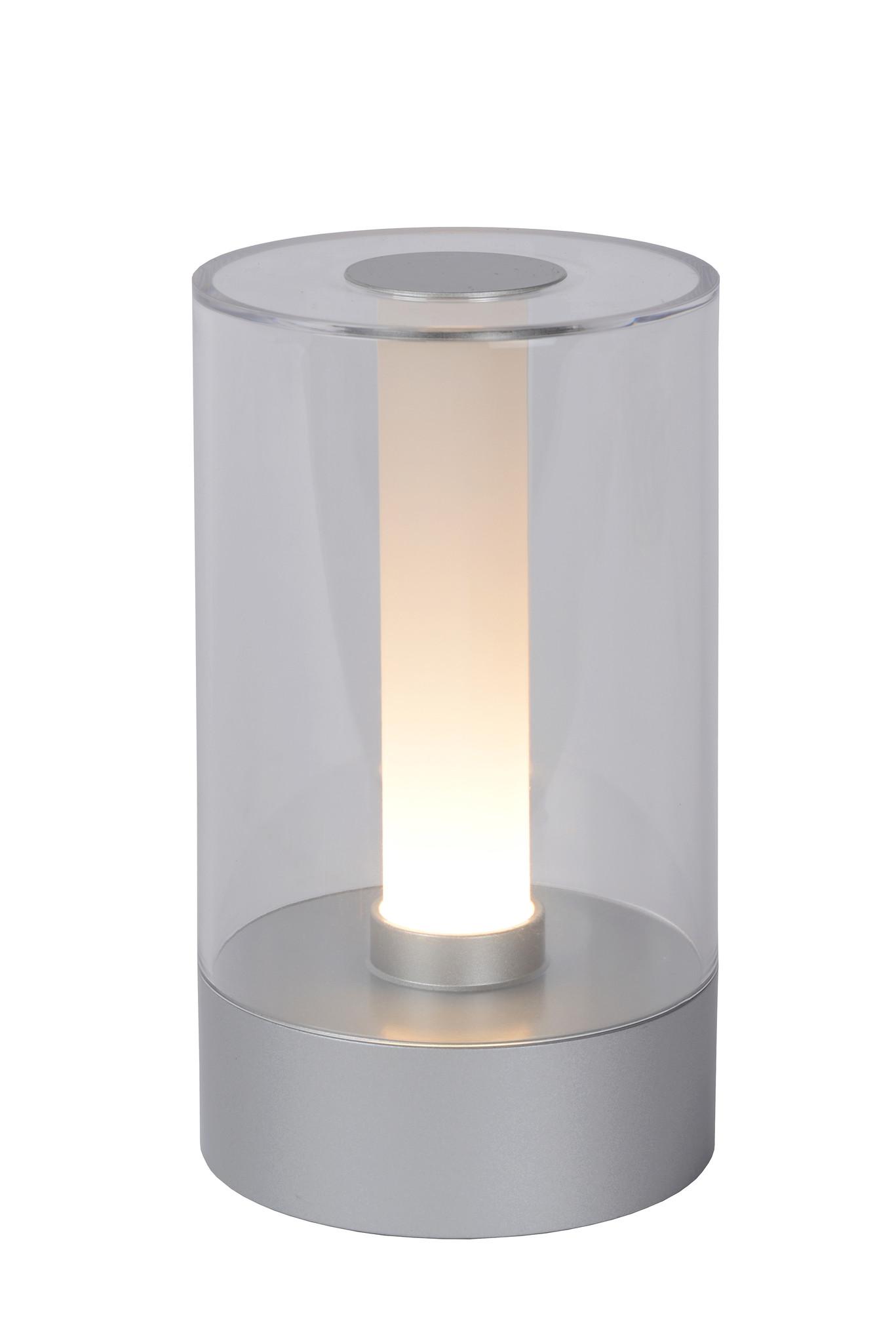 Lucide TRIBUN Tafellamp-Mat ch.-Ø9-LED Dimb.-3W-3000K