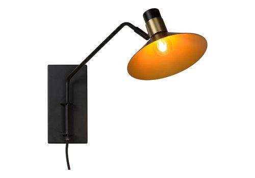 Lucide PEPIJN Wandlamp 1xE14 Zwart / Goud