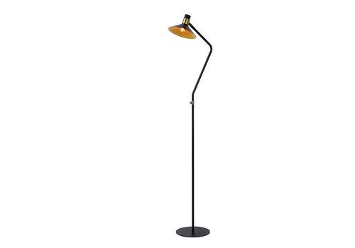 Lucide PEPIJN Vloerlamp 1xE14 Zwart / Goud