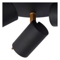 GRONY Plafondspot incl DTW 3xGu10/5W Zwart/Goud