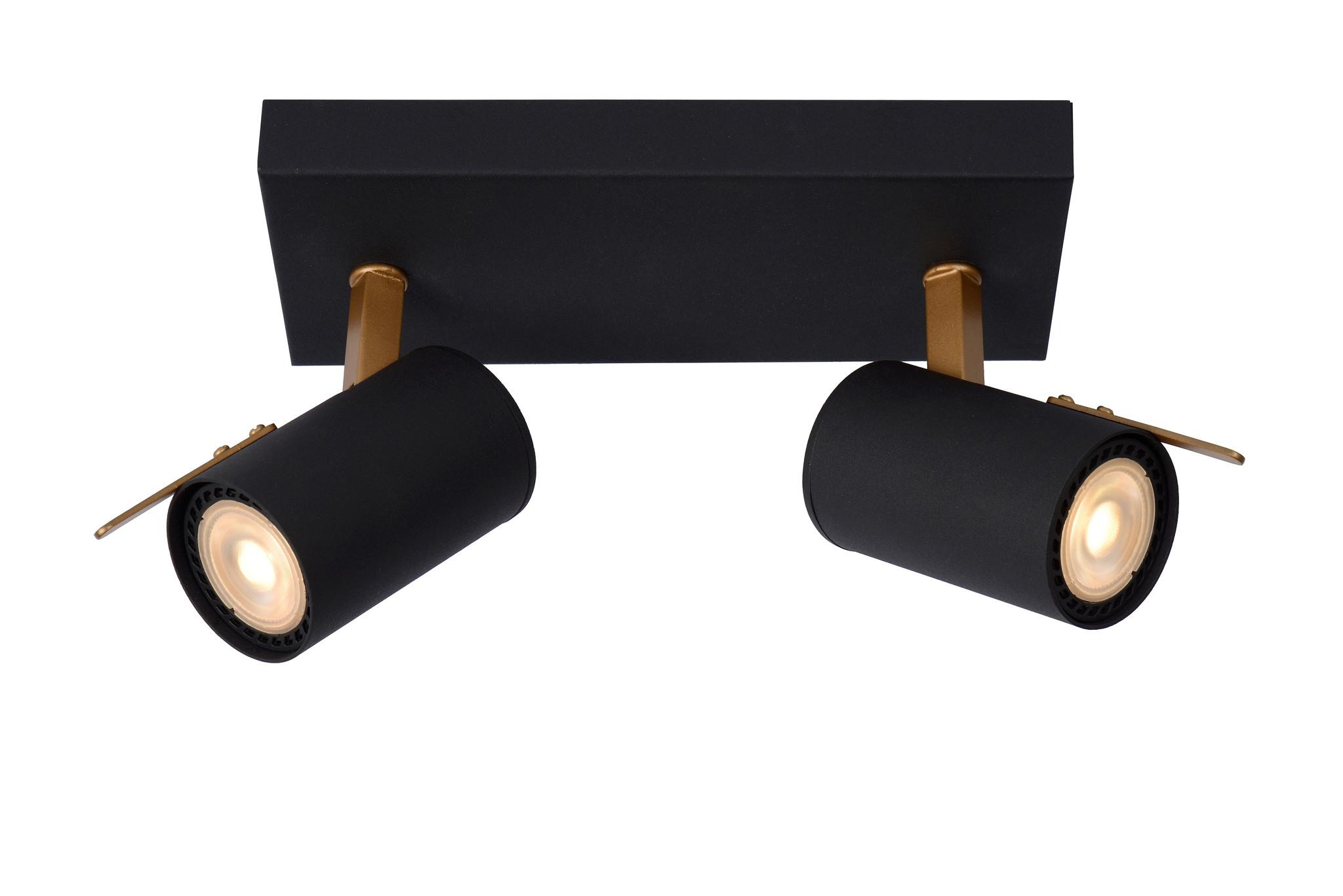 Lucide GRONY Plafondspot-Zwart-LED DTW-2xGU10-5W