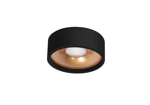 Artdelight Plafondlamp Orlando  Ø 14 cm zwart-goud