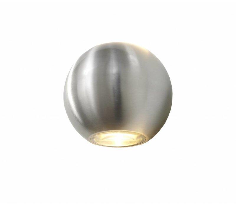 Wandlamp Denver Ø 10 cm aluminium