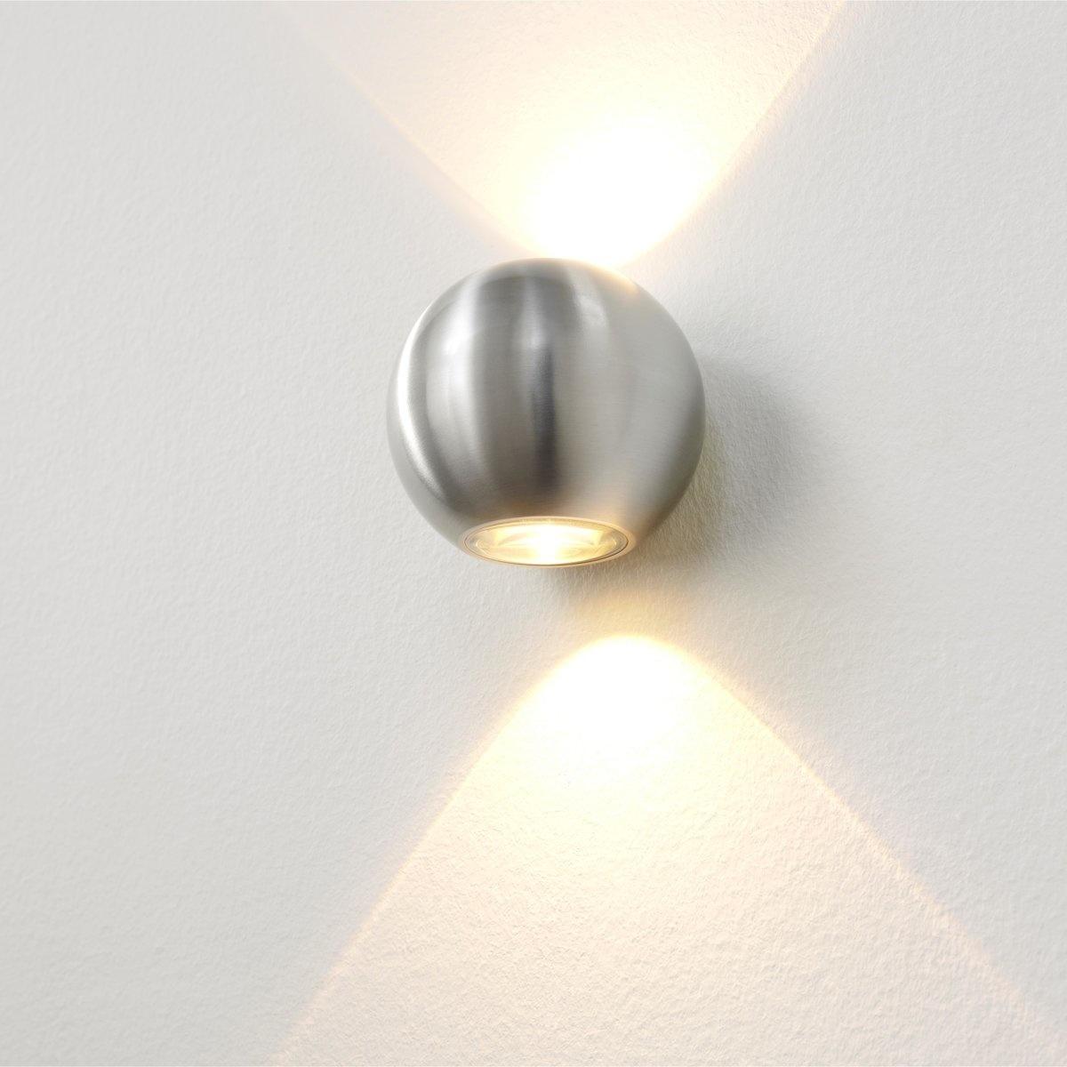Artdelight Wandlamp Denver Ø 10 cm aluminium