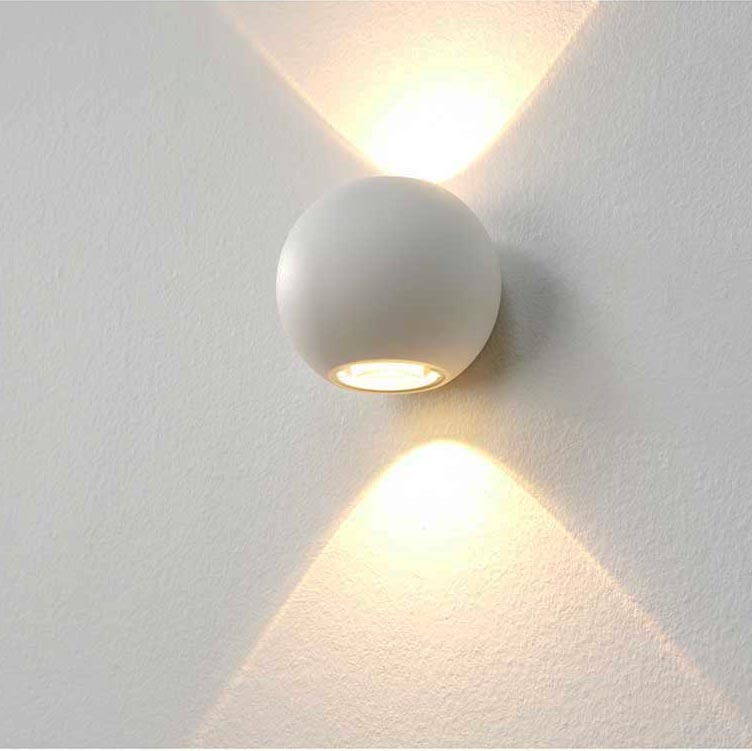 Artdelight Wandlamp Denver Ø 10 cm wit