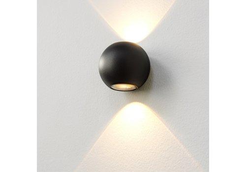 Artdelight Wandlamp Denver Ø 10 cm zwart