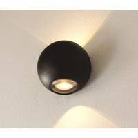 Wandlamp Denver Ø 10 cm zwart