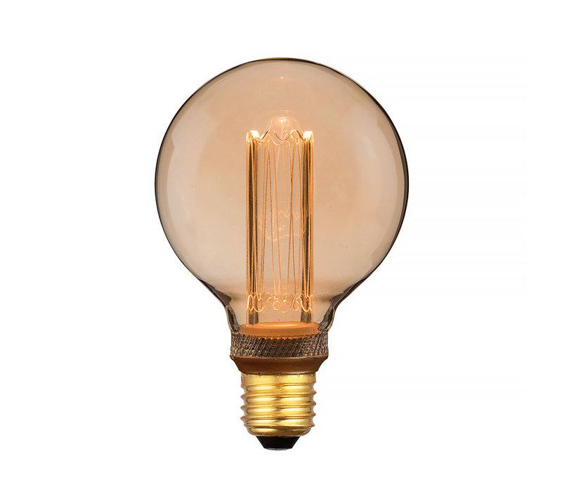 Lamp LED G95 5W 200 LM 1800K 3 Standen DIM Gold
