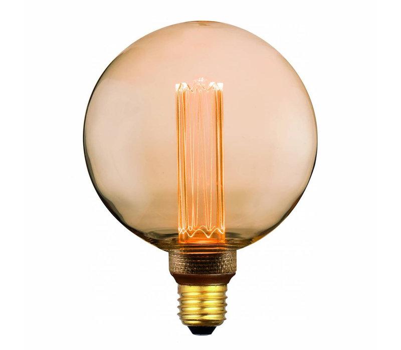 Lamp LED G125 5W 200 LM 1800K 3 Standen DIM Gold