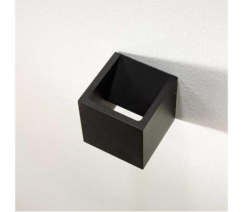 Wandlamp Cube 10x10 cm zwart