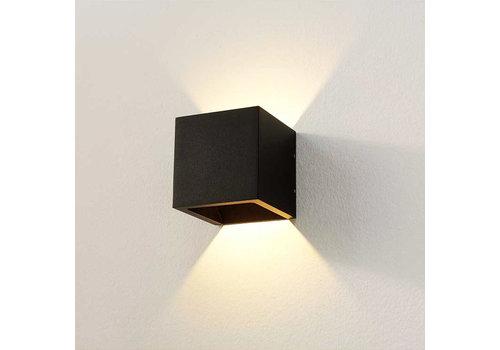 Artdelight Wandlamp Cube 10x10 cm zwart