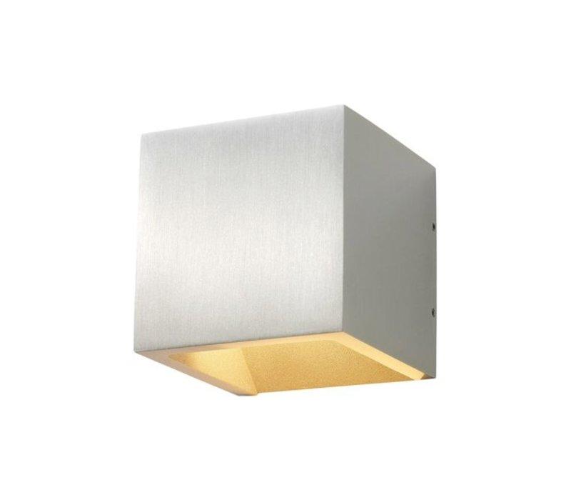 Wandlamp Cube 10x10 cm aluminium