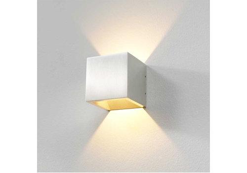 Artdelight Wandlamp Cube 10x10 cm aluminium