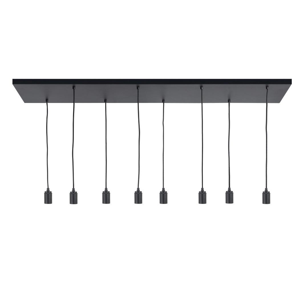 Highlight Plafondplaat 8 lichts L 130 x B 35 cm met snoer en fittingen