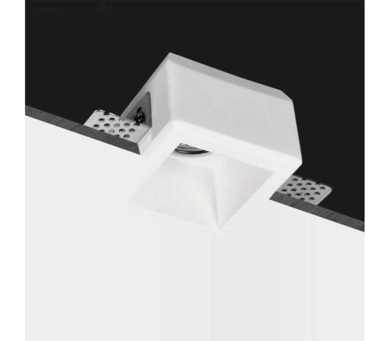 Inbouwspot Boda 1 lichts vierkant Trimless gips
