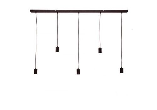 Freelight Plafondplaat 5 lichts L 125 x  B 8 cm met snoer en fittingen