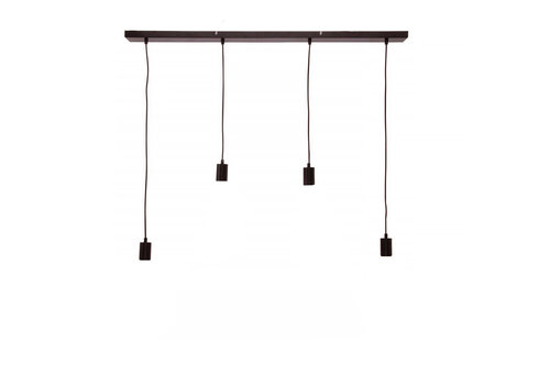 Freelight Plafondplaat 4 lichts L 100 x  B 8 cm met snoer en fittingen