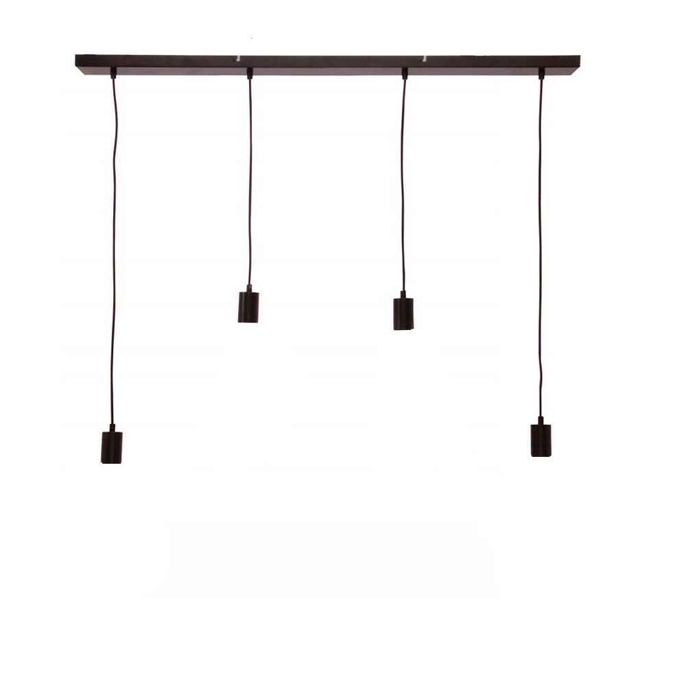 Freelight Plafondplaat 4 lichts L 120 x B 8 cm met snoer en fittingen