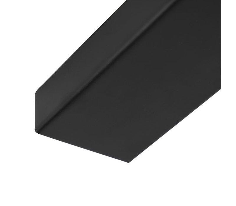 Plafondplaat L 100 cm x B 8 cm zwart