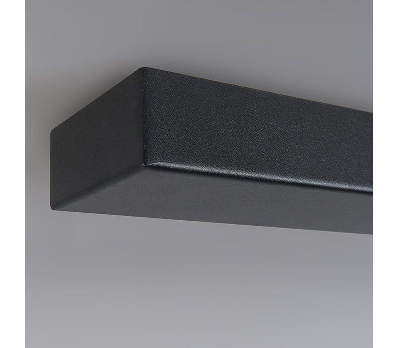 Plafondplaat L 100 cm x B 8 cm - zonder gaten - zwart