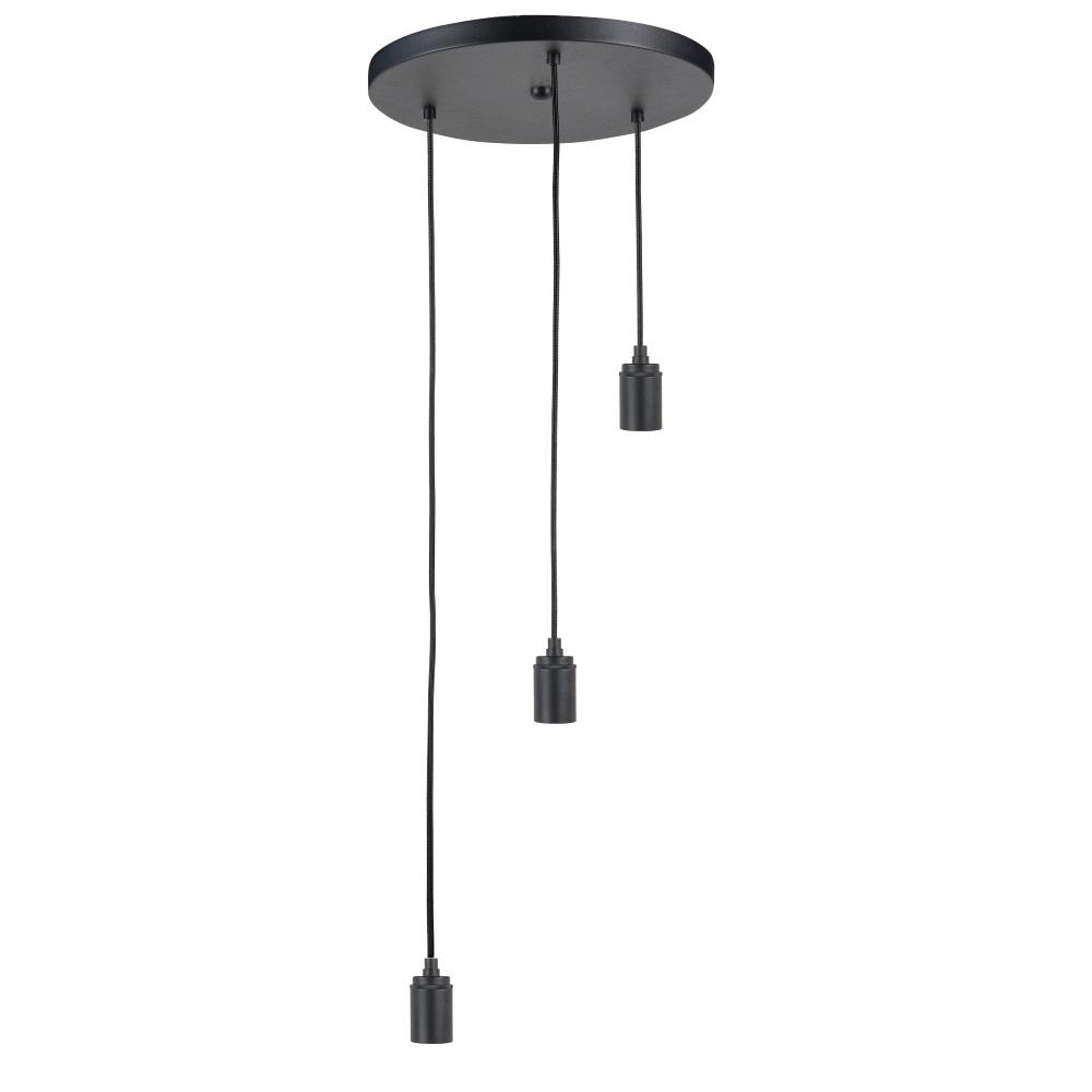 Highlight Plafondplaat 3 lichts Ø 35 cm met snoer en fittingen