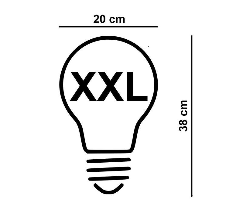Lamp LED XXL Wokkel 20x38 cm 6W 100 LM 2200K DIM Rook