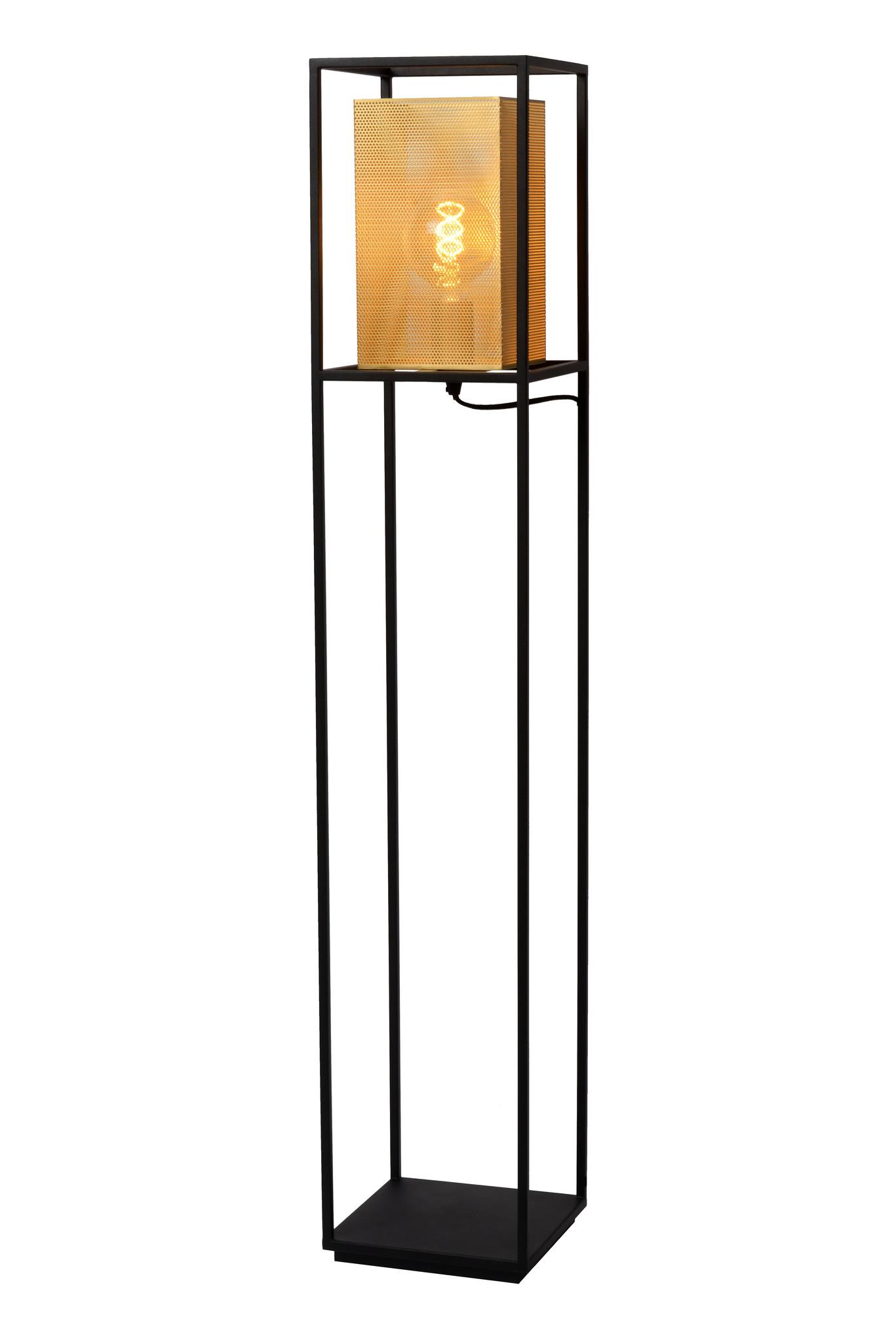 Lucide SANSA Vloerlamp 1xE27/40W Zwart - goud