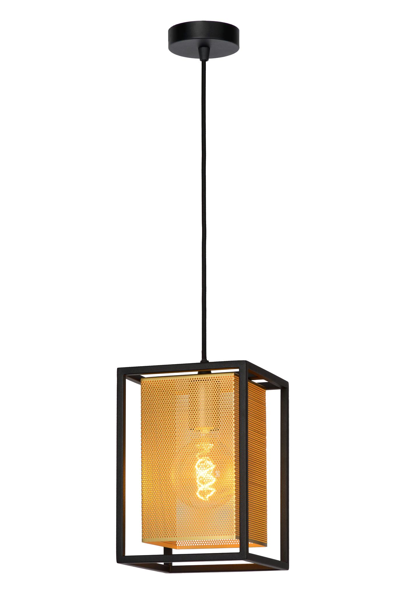 Lucide SANSA Hanglamp-Zwart-1xE27-40W-Metaal