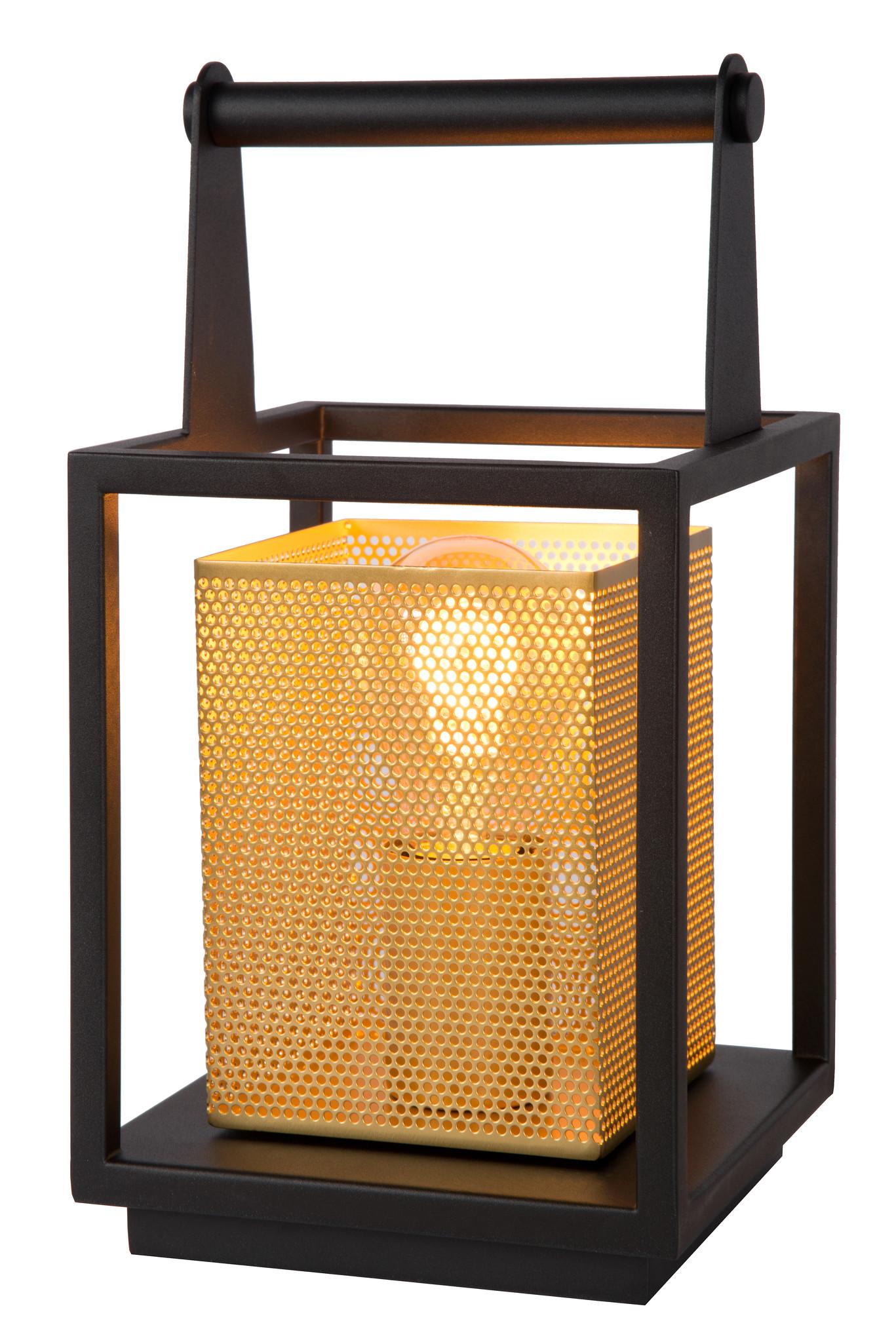Lucide SANSA Tafellamp-Zwart-1xE27-40W-Metaal
