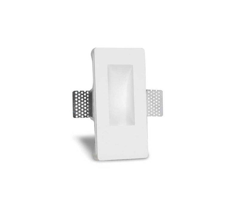 Wandlamp Gips trimless stuc rechthoek wit