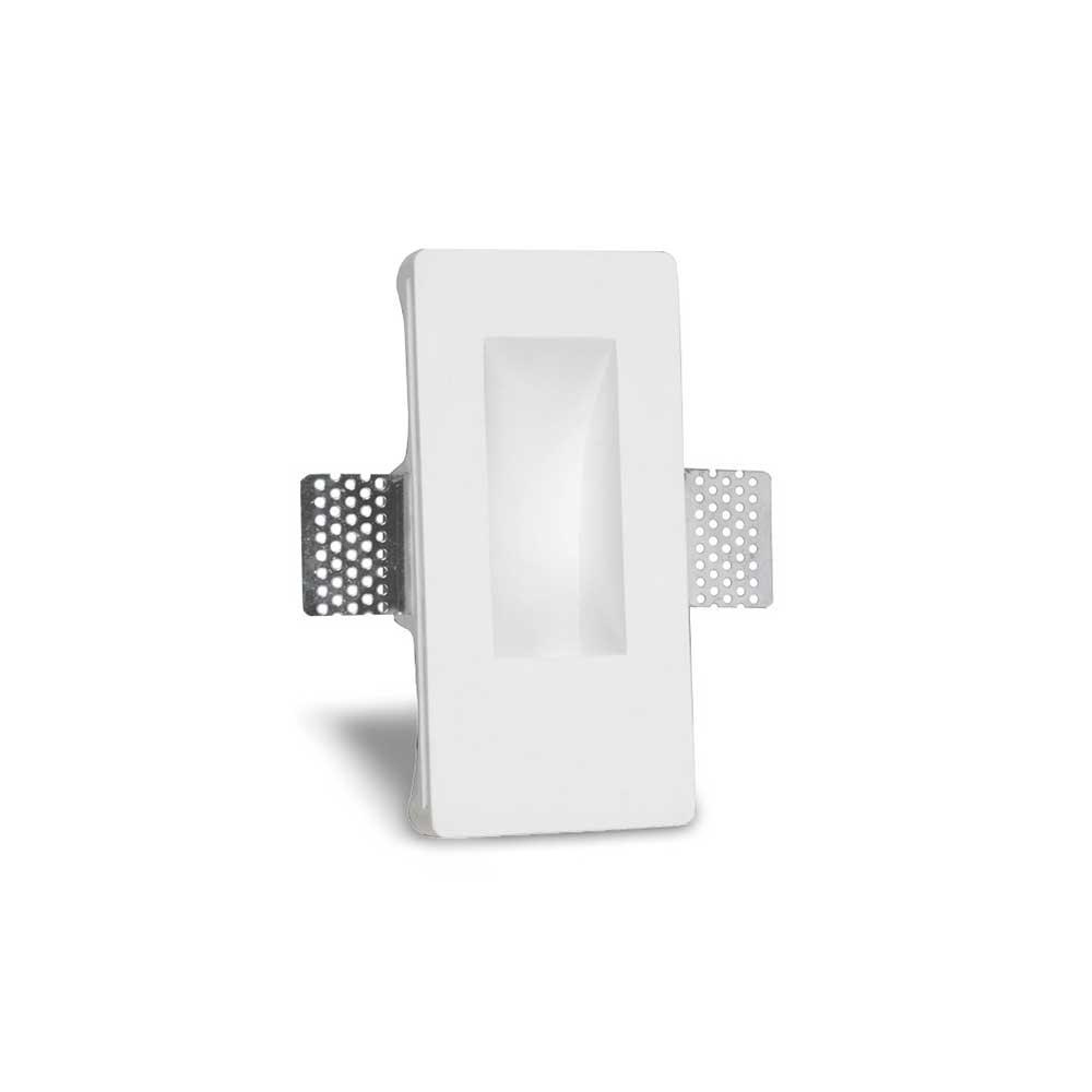 Artdelight Wandlamp Gips trimless stuc rechthoek wit
